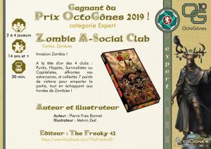 Un prix pour Zombie A Social Club