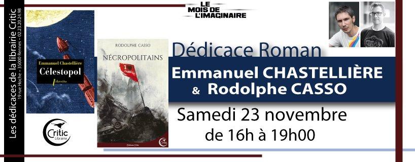 Dédicace Rodolphe Casso et Emmanuel Chastellière à Rennes - Actusf