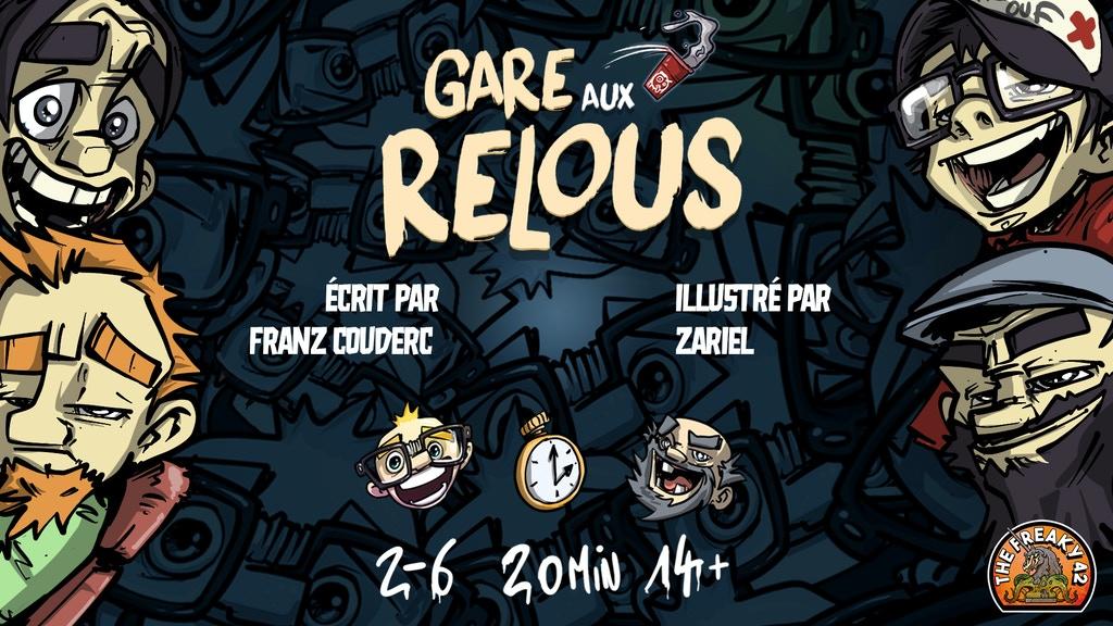Un live pour le lancement du jeu Gare aux Relous !