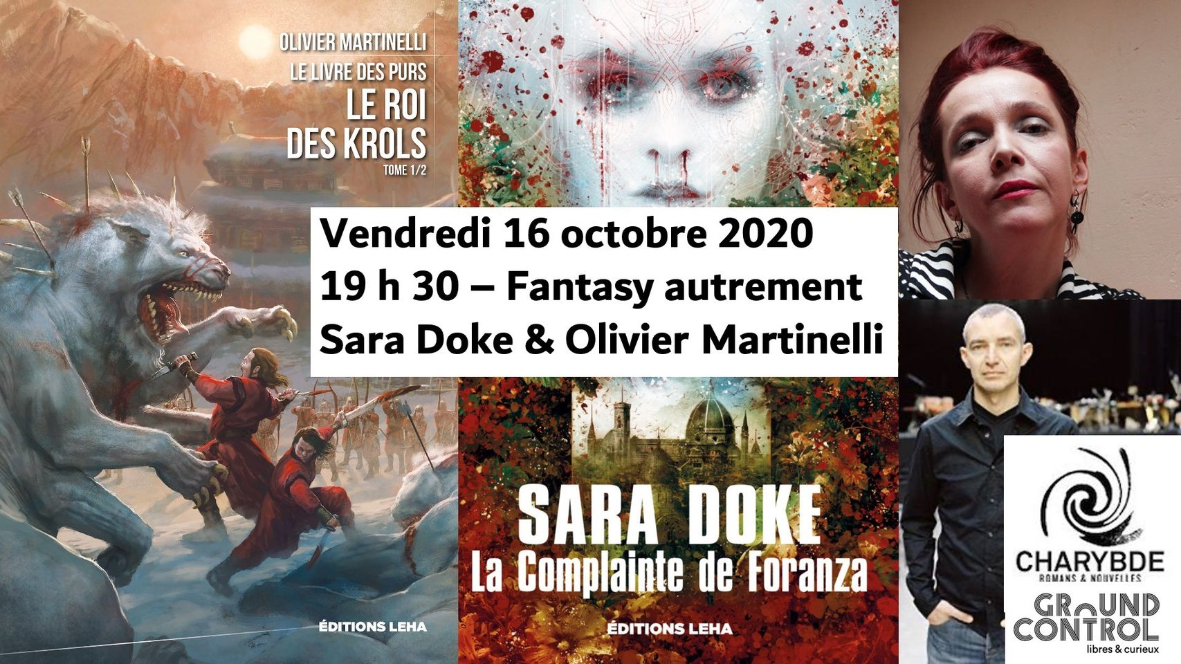 Photo de [Mois de l'imaginaire] Fantasy autrement : Sara Doke & Olivier Martinelli