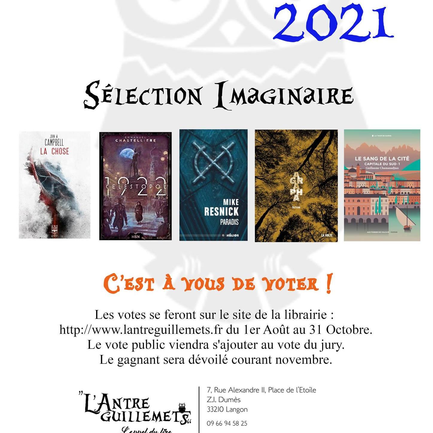 La sélection 2021 du prix de L'Antre Guillemets