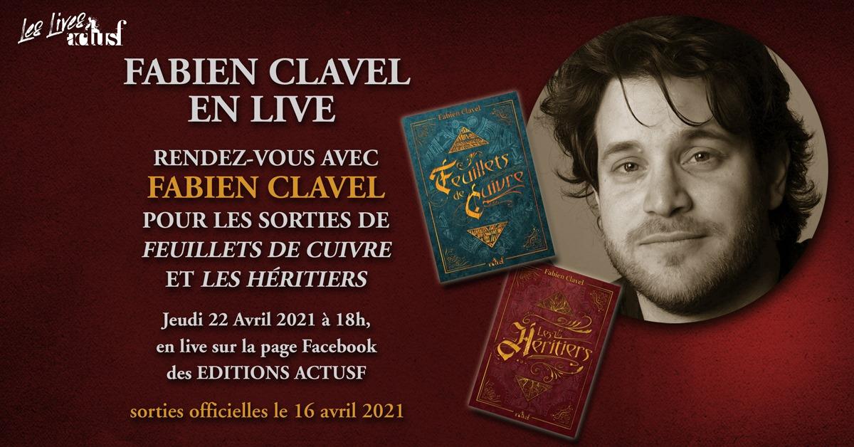 Rencontrez Fabien Clavel le jeudi 22 avril en live